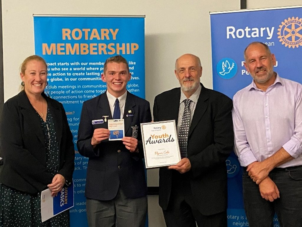 Congratulations Flynn Cole – 2021 Rotary Youth Awards